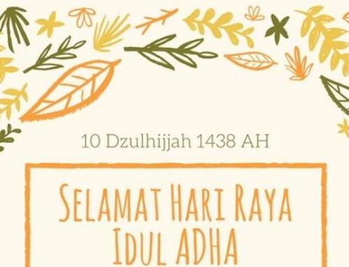 Sholat 'Eid ul-Adha 10 Dhul Hijjah 1438 H