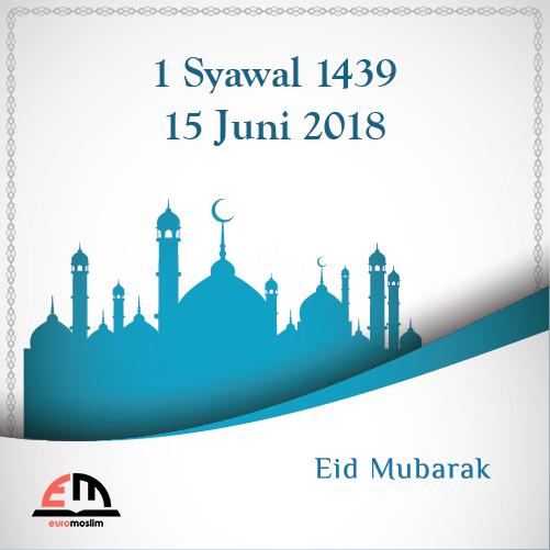 1 Syawal 1439 H / Jumat, 15 Juni 2018